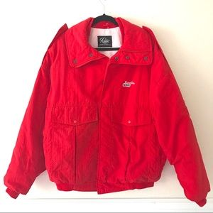 ROFFE Men's Vintage Red Thermal Ski Snow Jacket